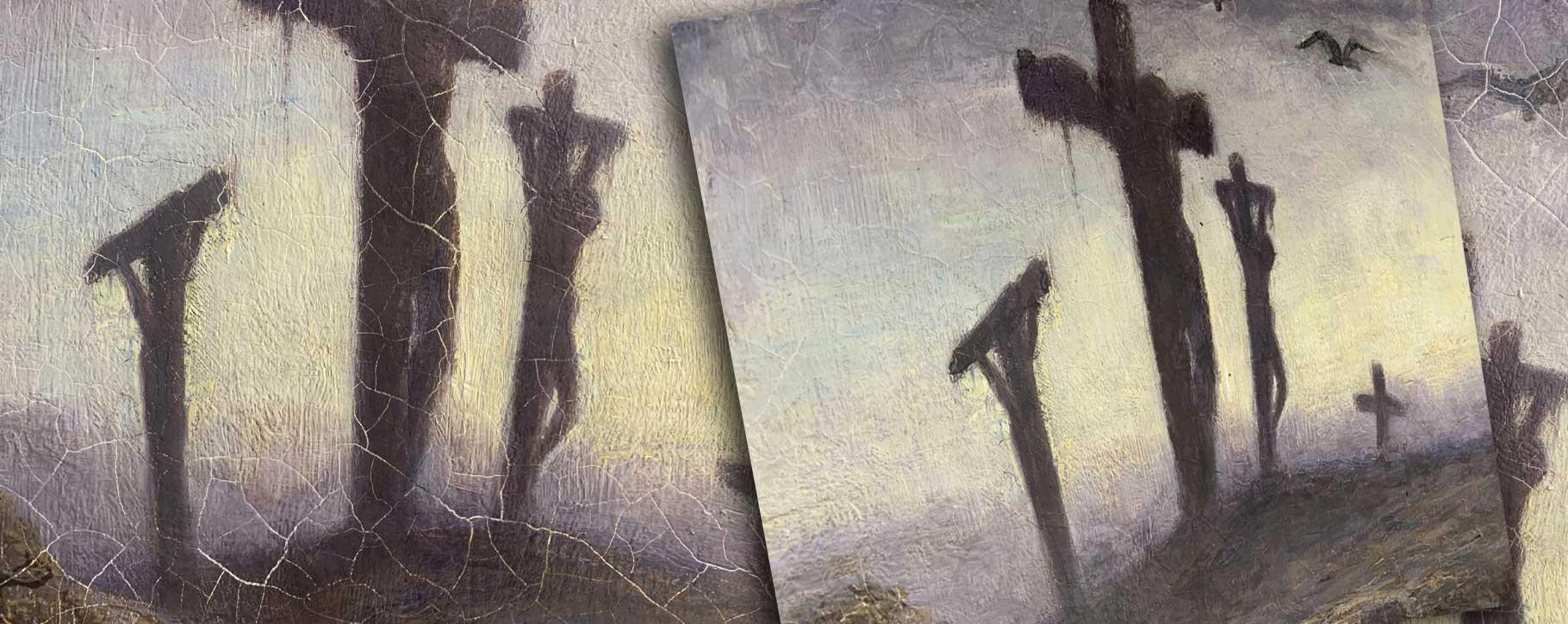 rizpah restoration crosses cracking