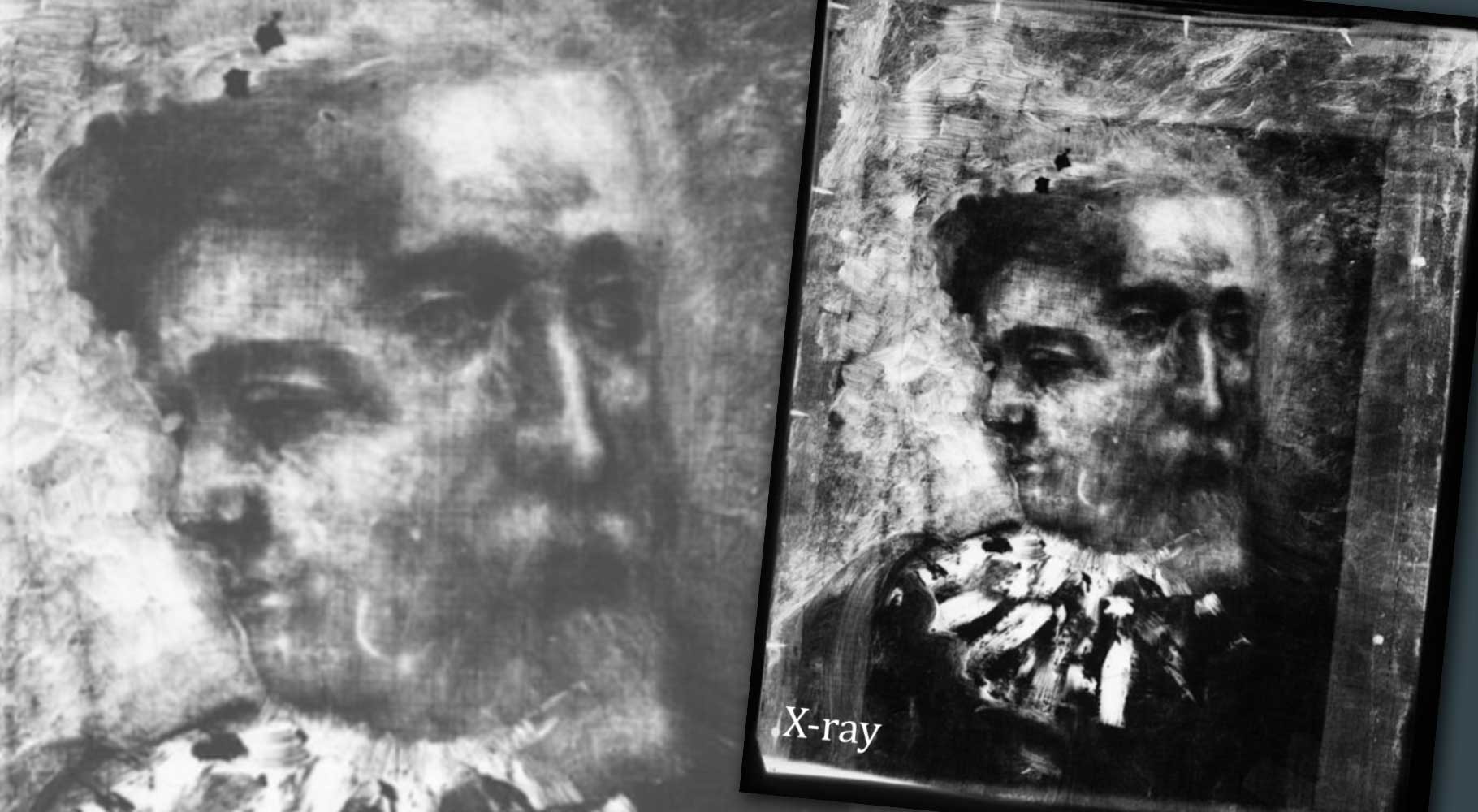 x-ray of oil painting