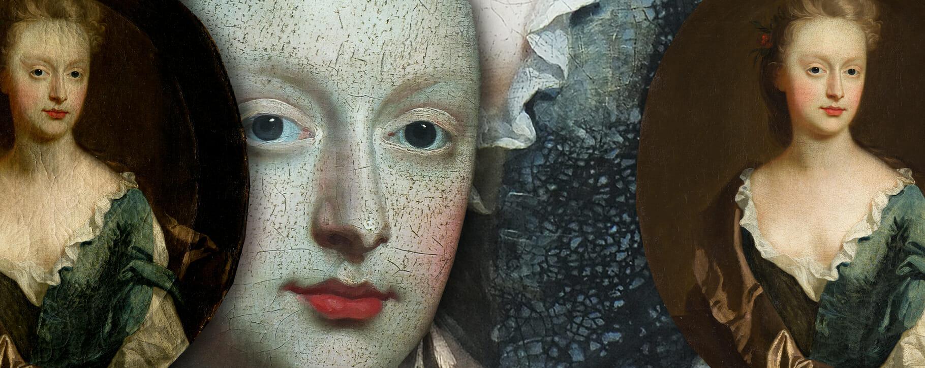 18th century Cracked Portrait