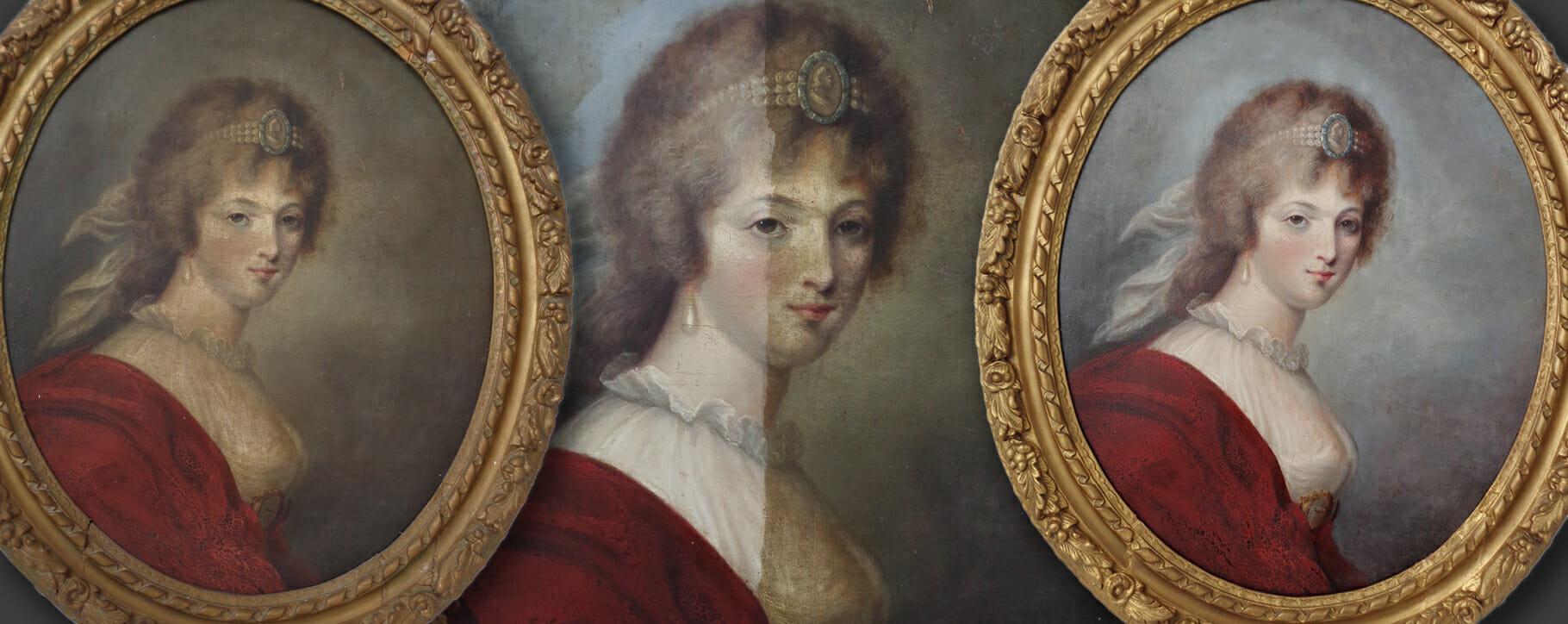 18th century Varnish Removal oval