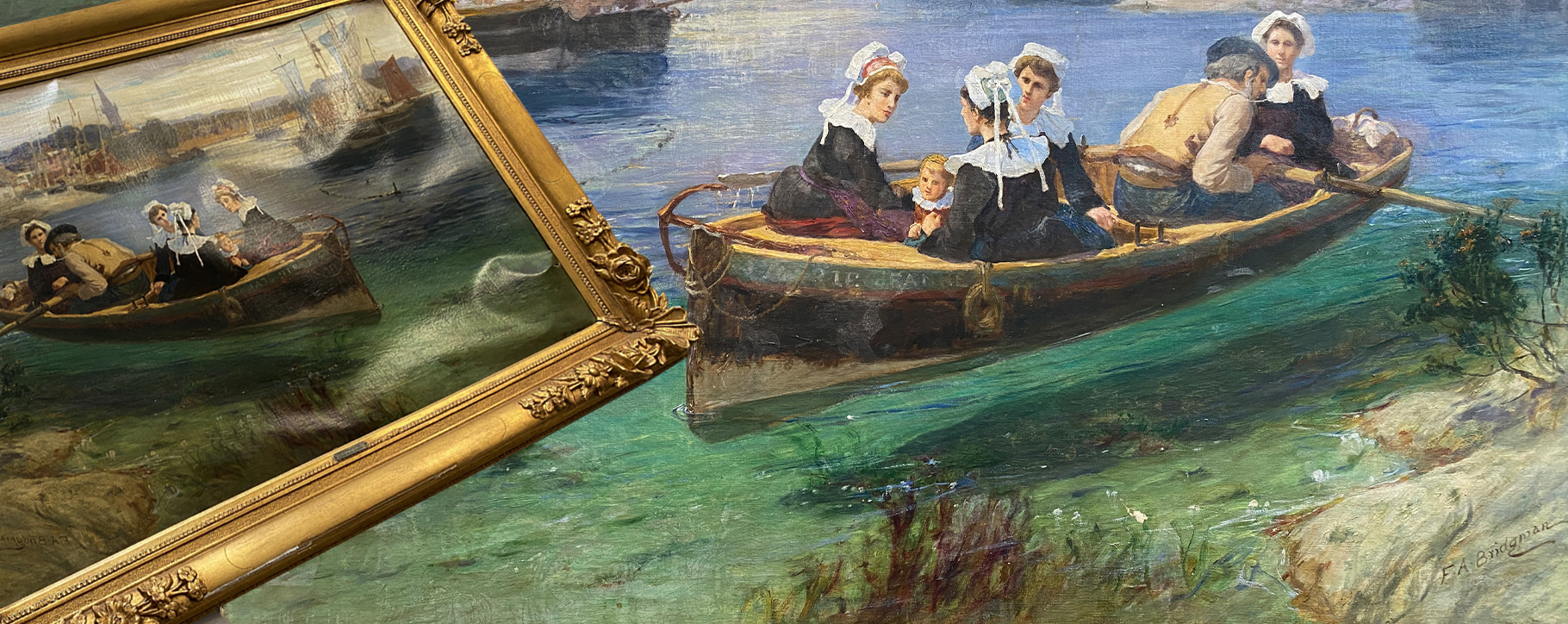 Bridgman Warped Boat Painting