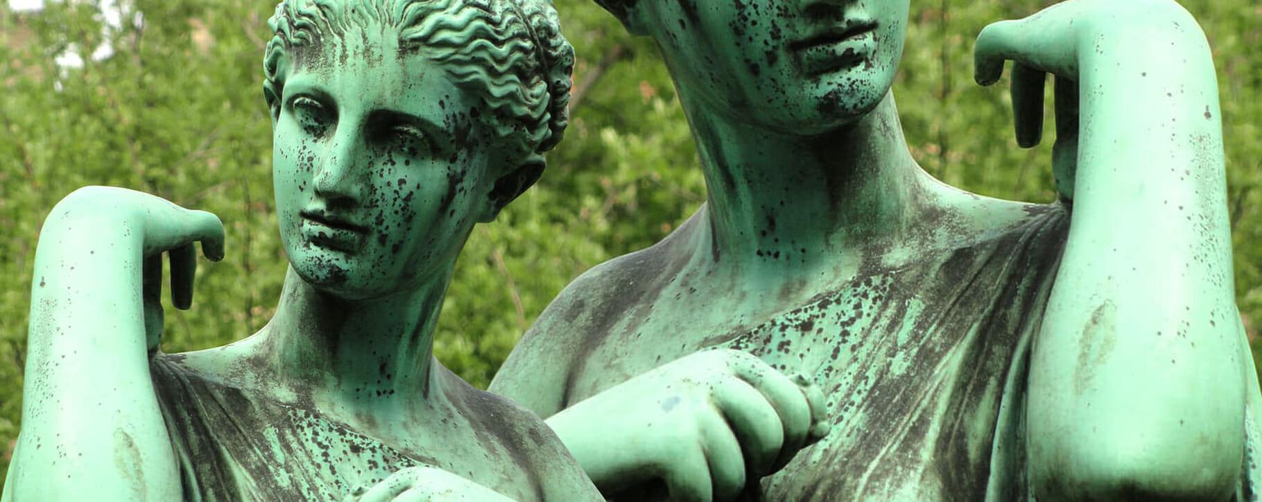 Bronze Decay Statue