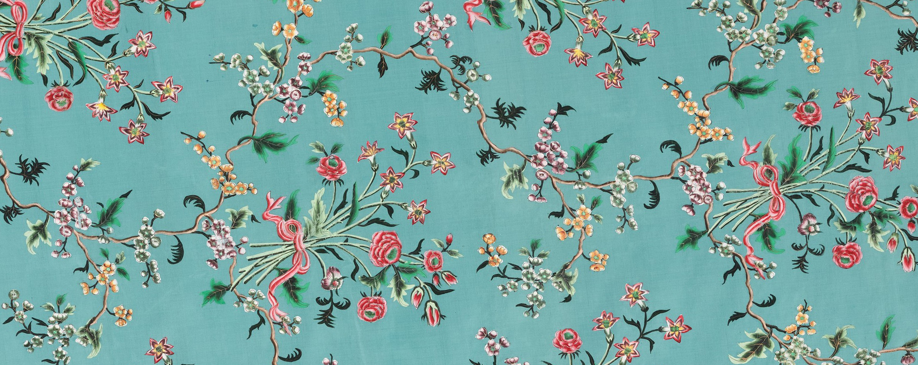 Chinese Painted Silk Panel