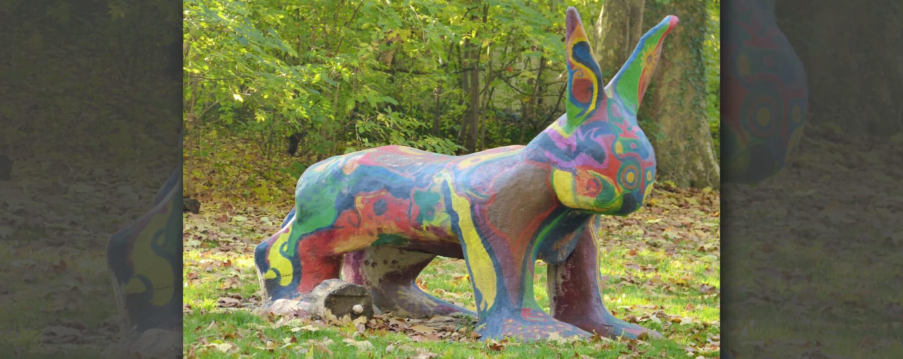 Colourful Garden Statue