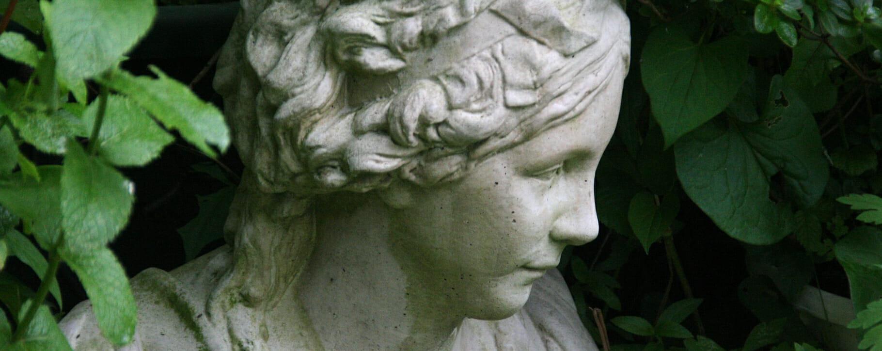 Garden Statue Leaves