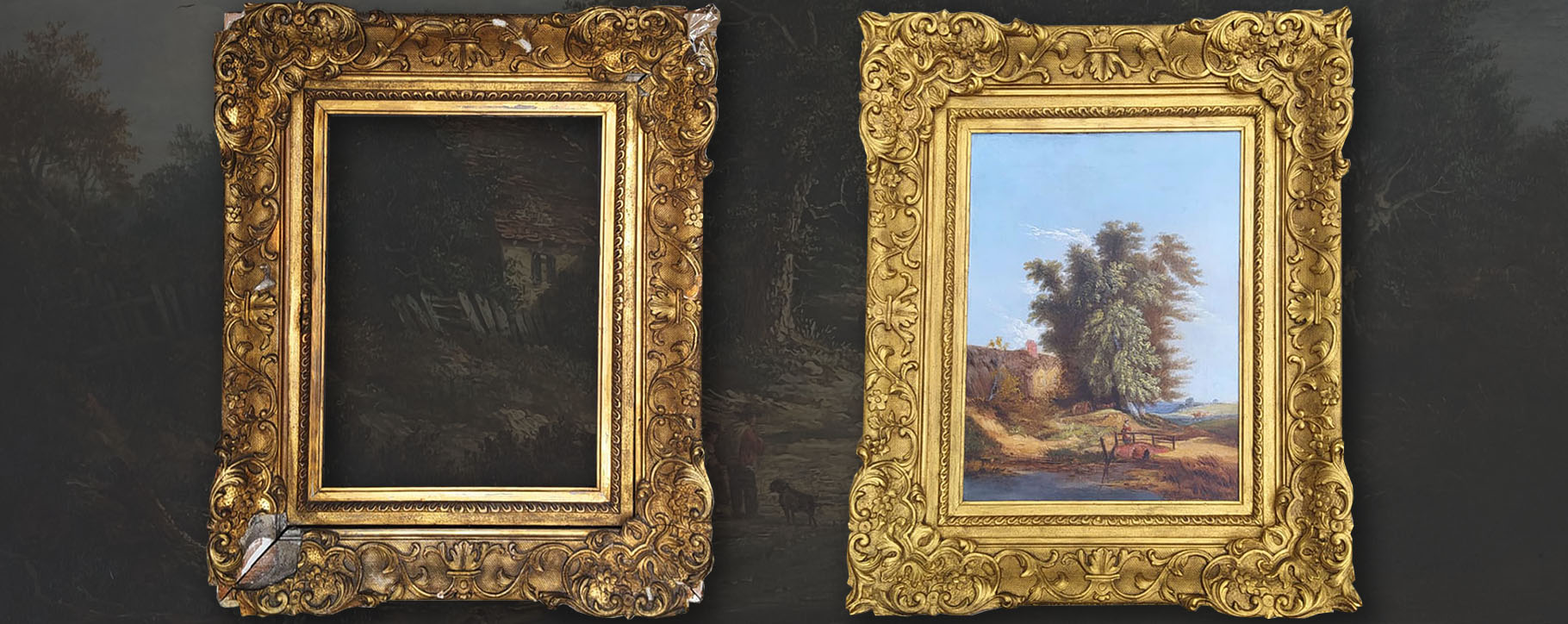 Gilded Frame With Painting Restore