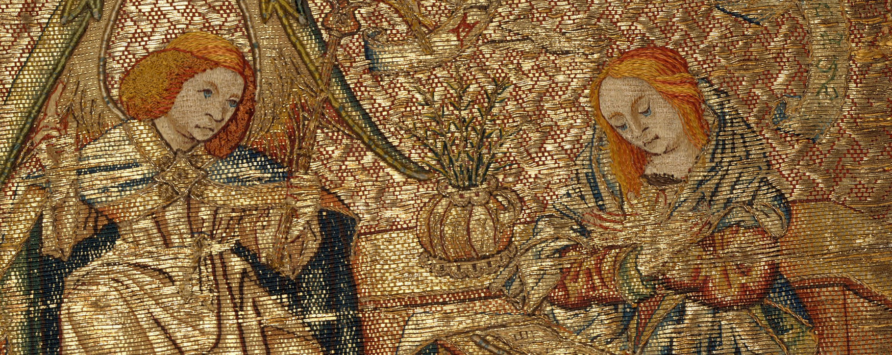 Gold Embroidery Textile