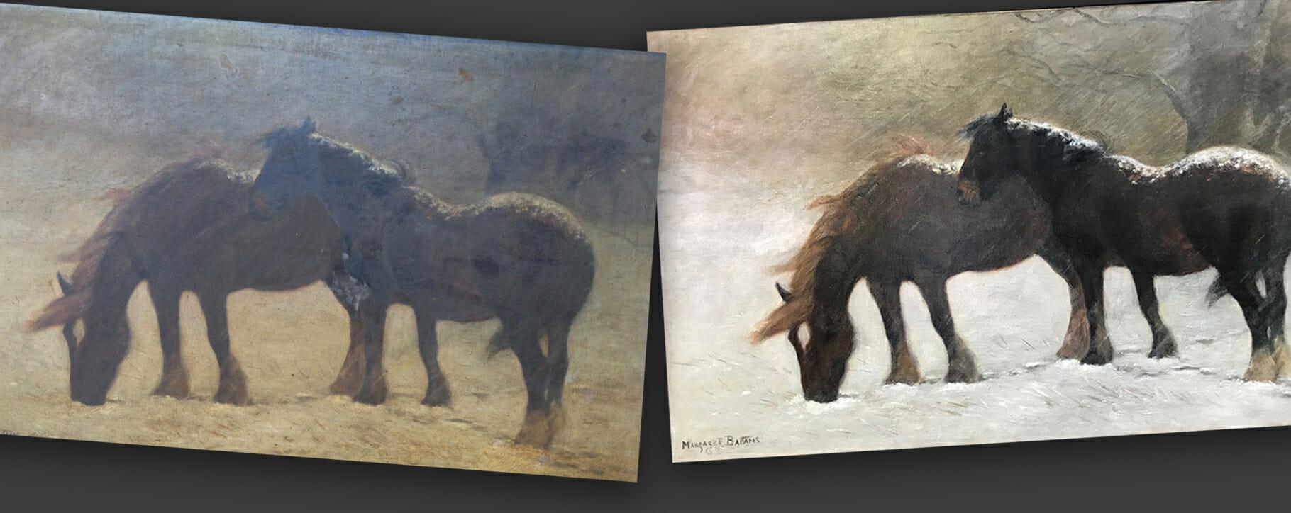 Horse Painting Restoration