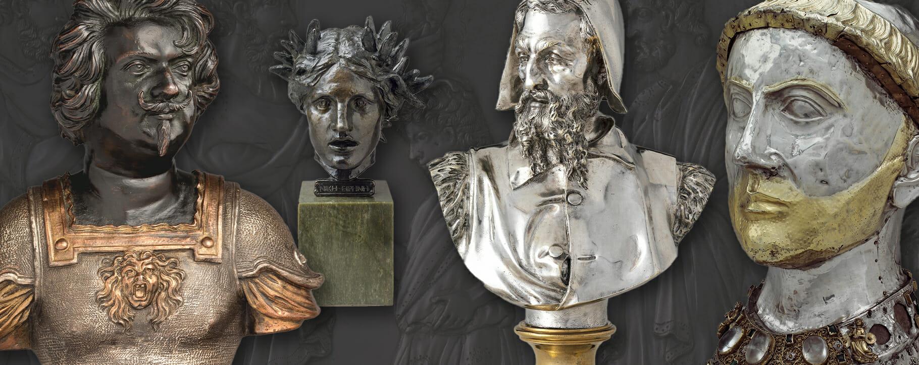 Metal Sculpture Busts