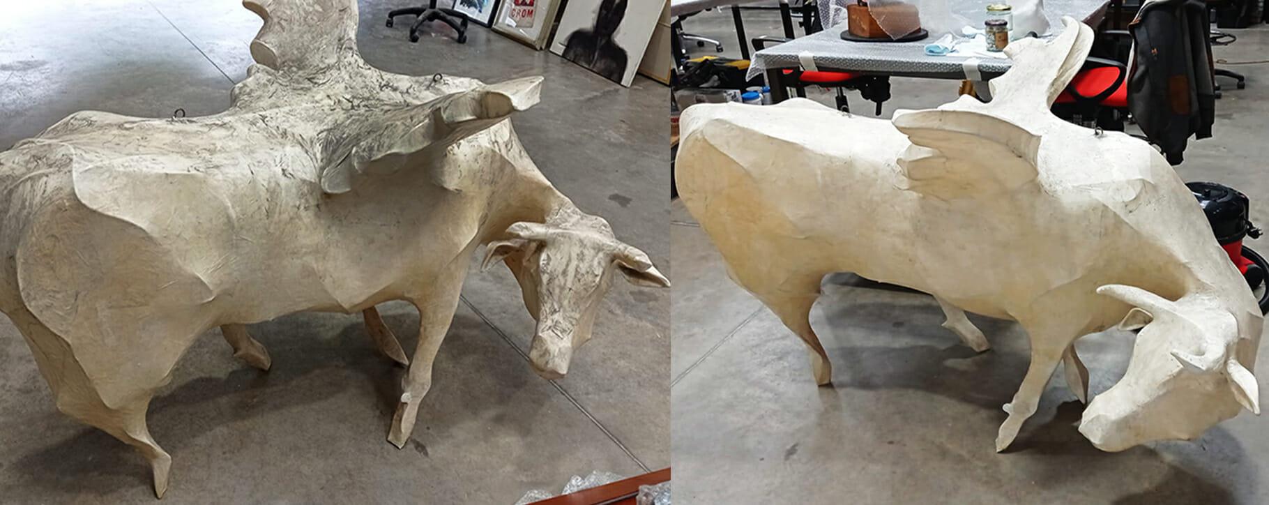 Papier Mache Bull