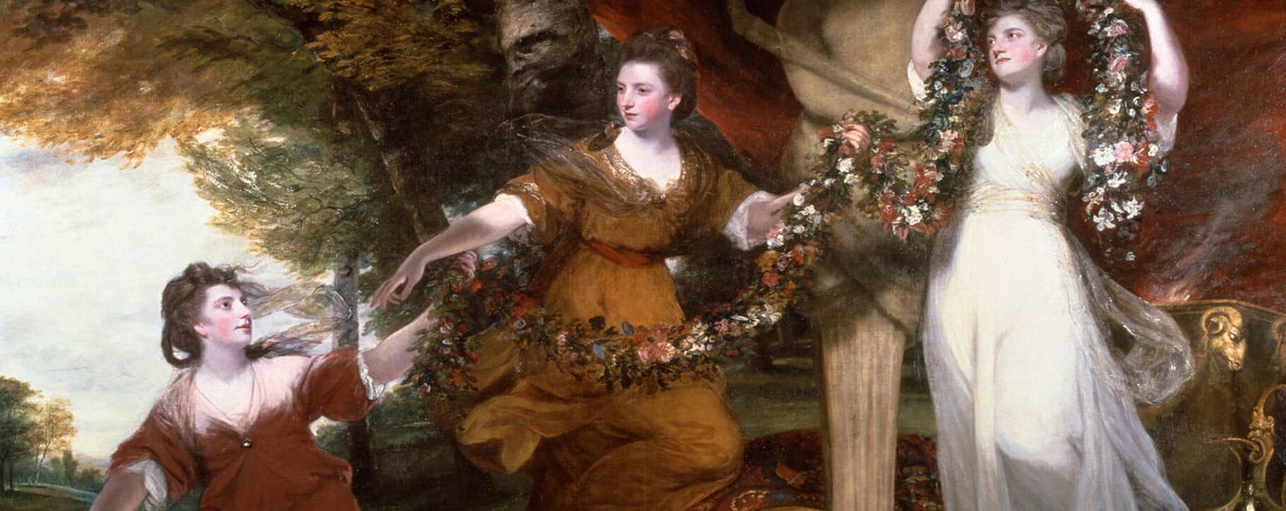 Joshua Reynolds Three Ladies Portrait