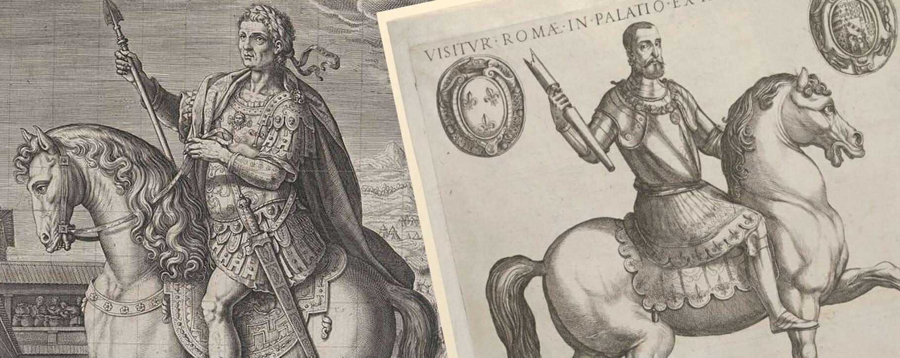 Roman Equestrian Horseback Prints