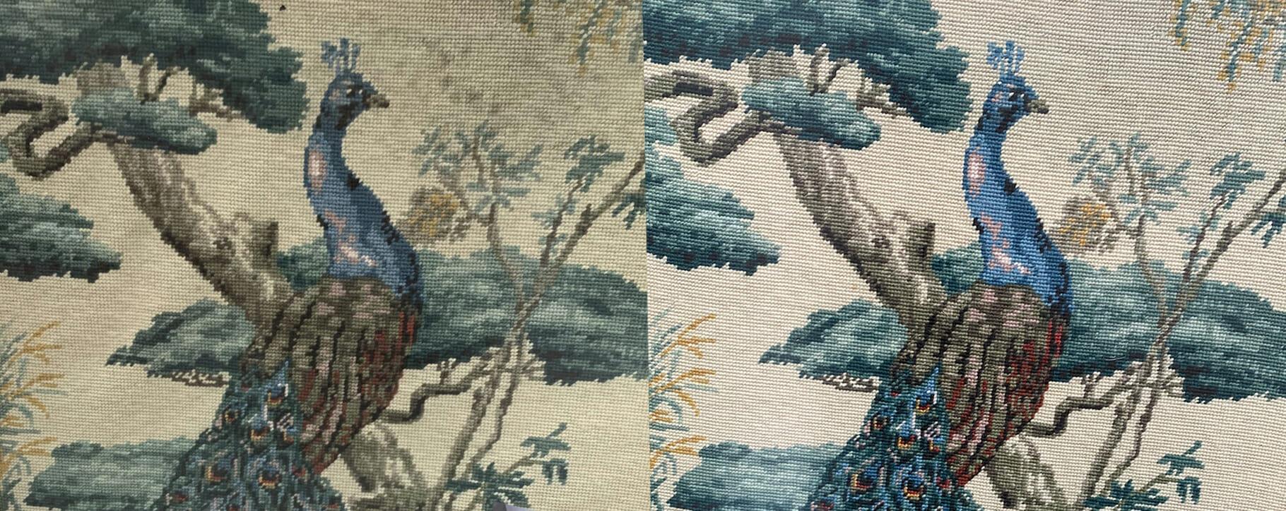 Peacock Tapestry Restoration