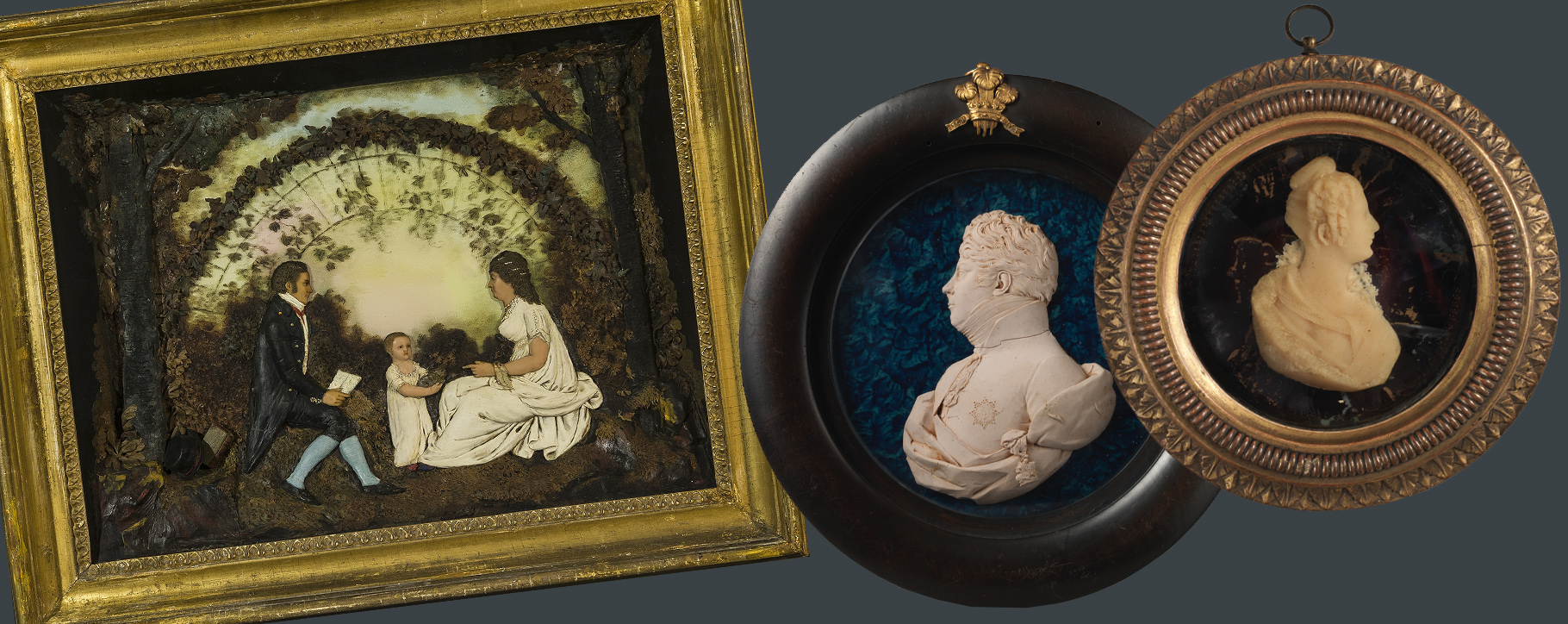 Wax Sculptures - Family Portrait Cameo