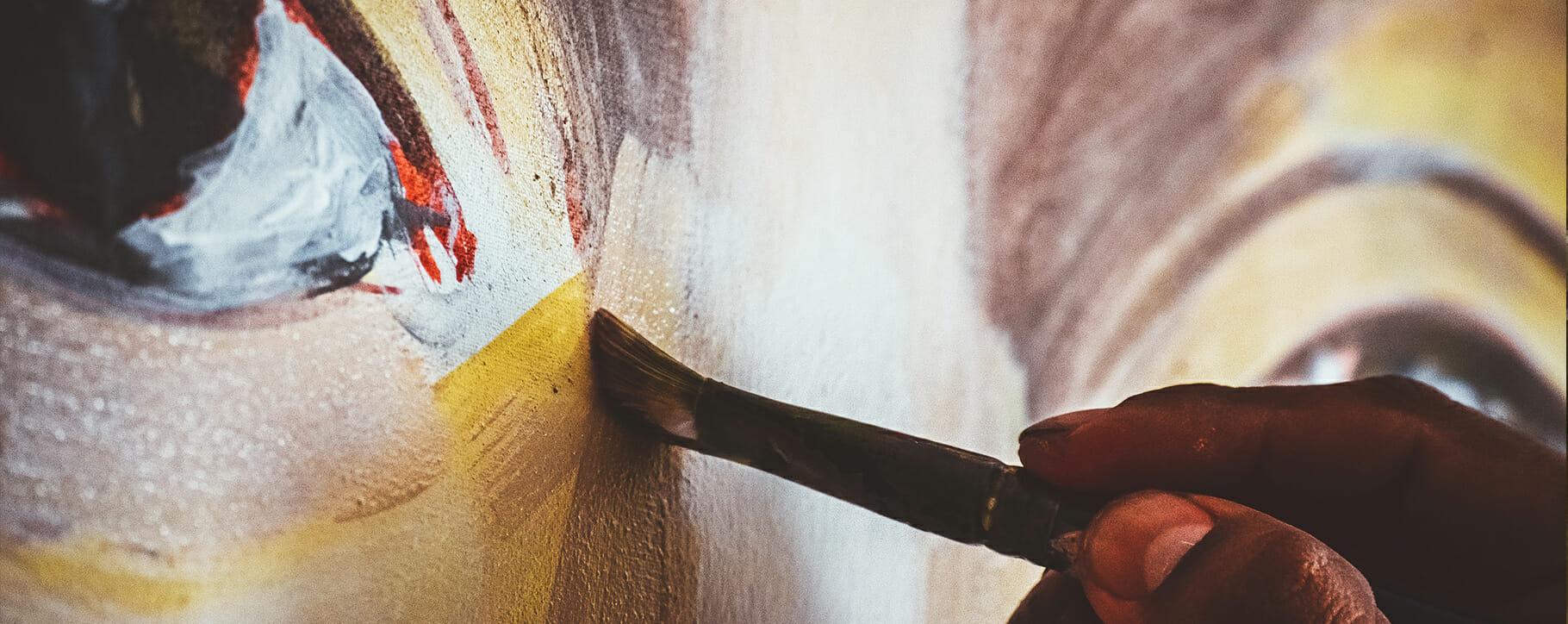 Artist Painting Eyes