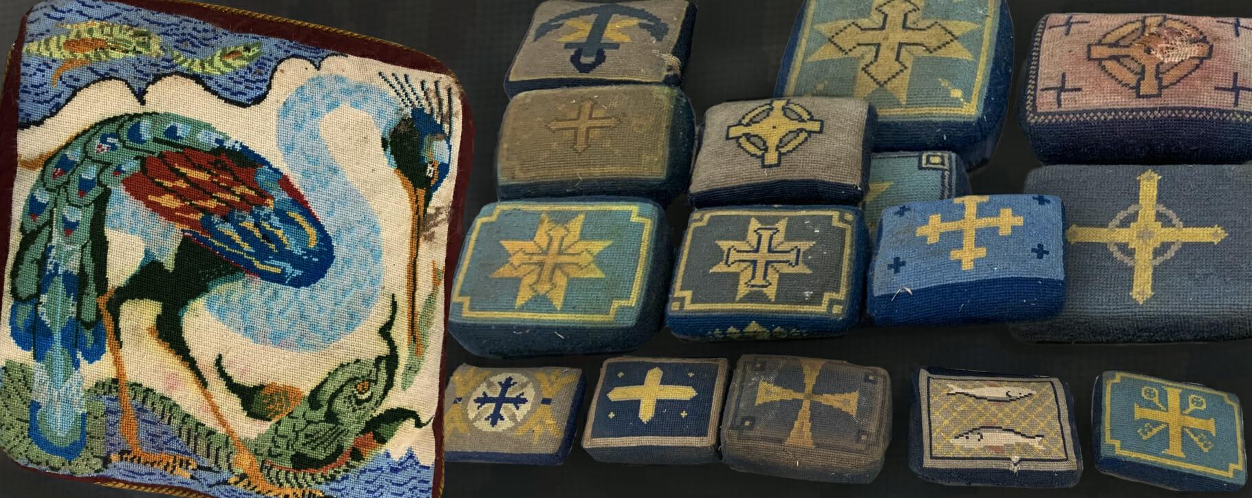 Church Pews Flood Damage Textiles