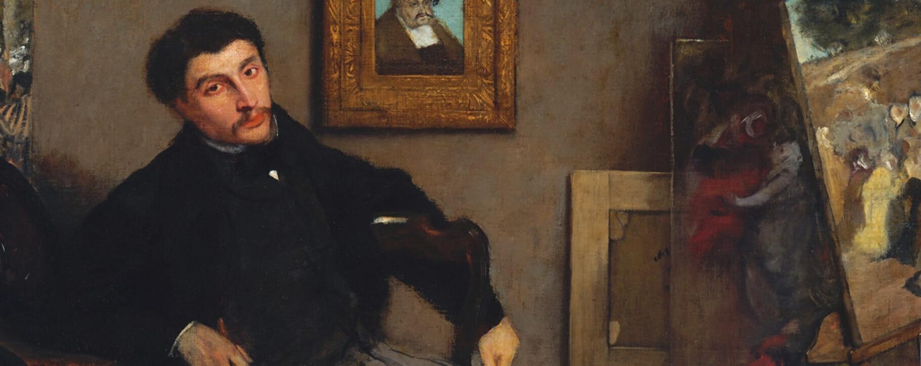 19th century painting Degas Tissot studio