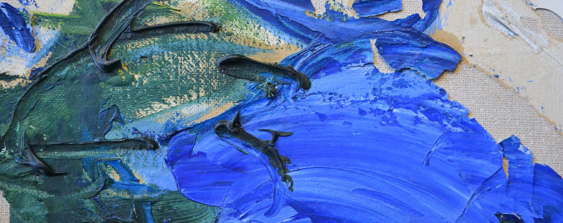 Blue Flaking Paint