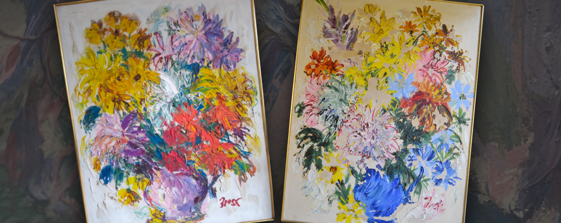 Flower Paintings Flaking Lifting