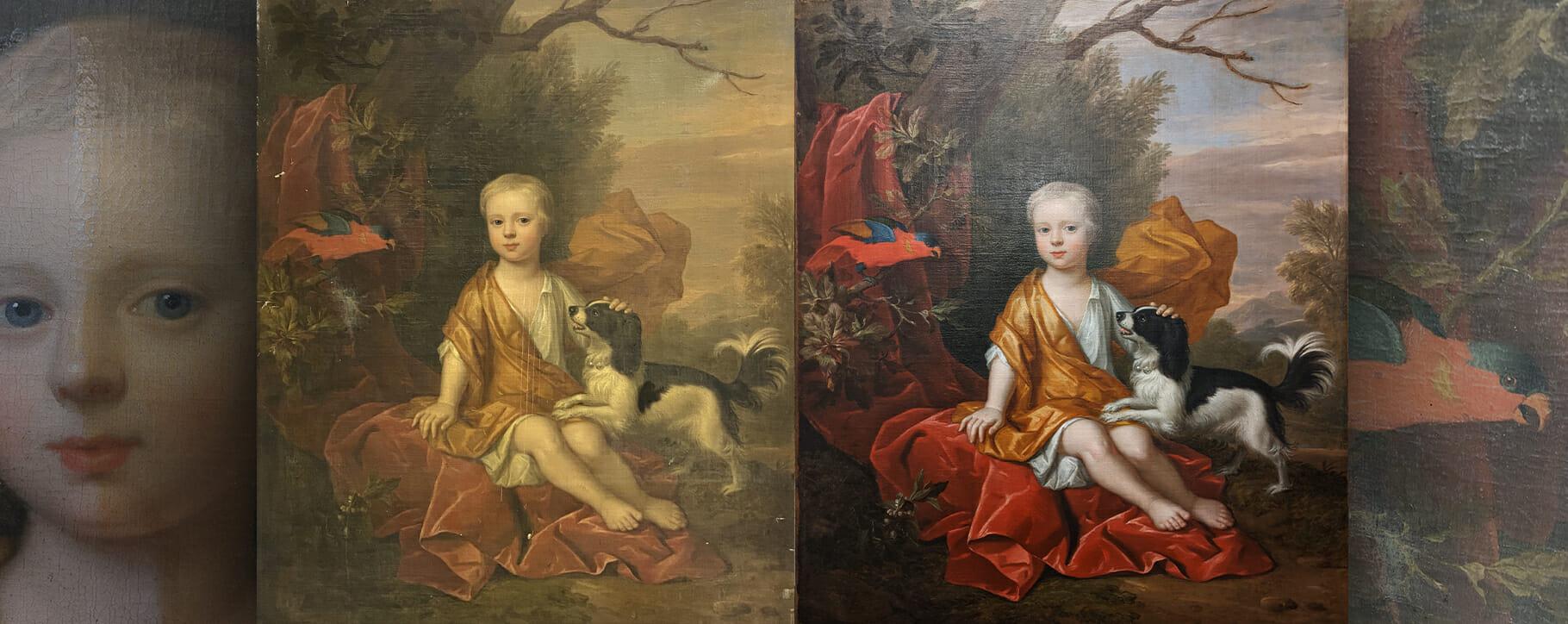 18th Century Portrait Before After Internship