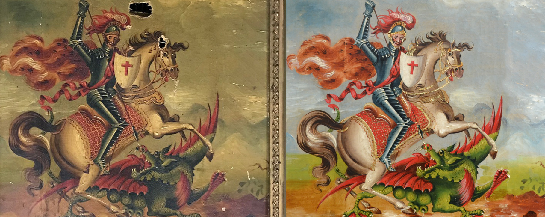 Saint George Before After
