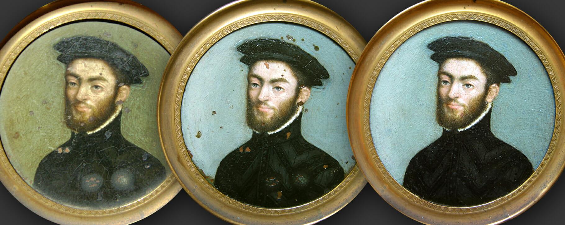 clouet portrait restoration