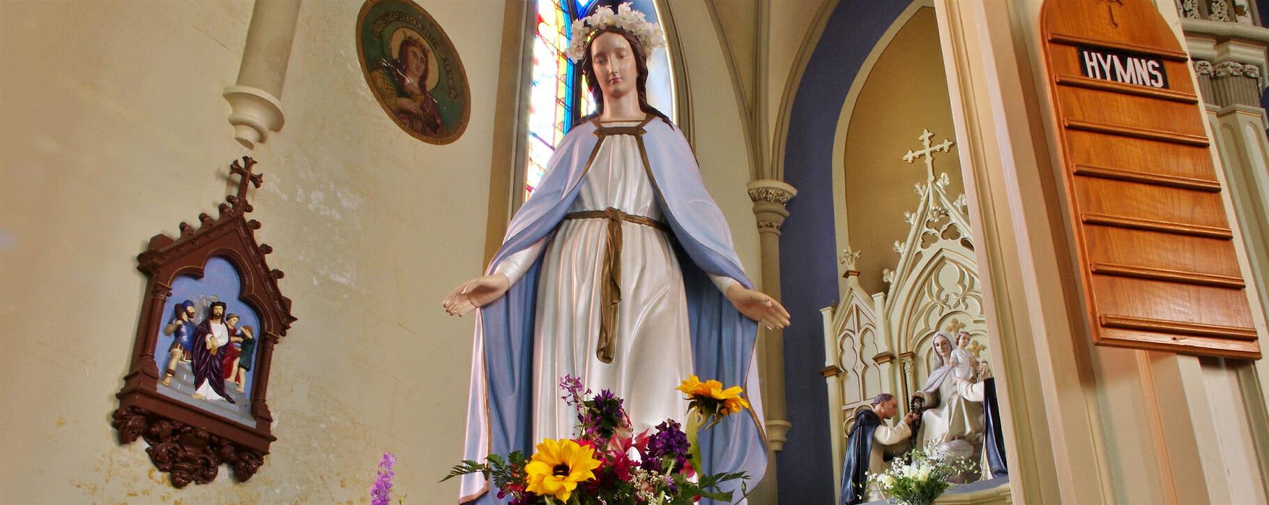 Church Interior Statue