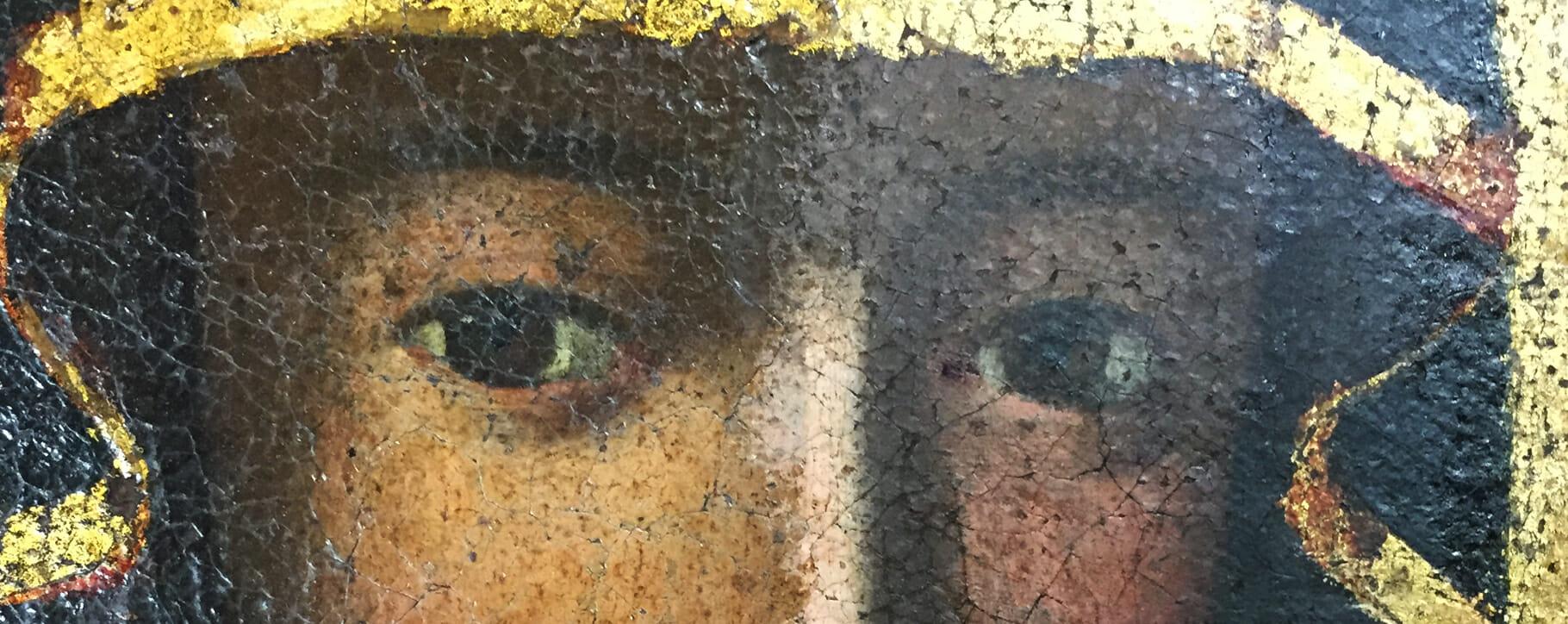 Virgin Mary Eyes Detail