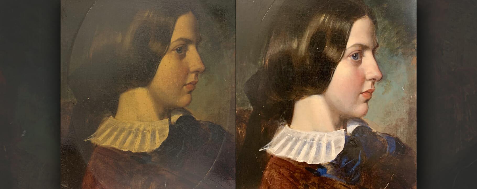 19th Century Female Portrait Restoration