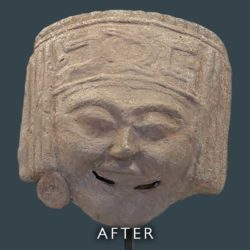 Chinese mask before restoration