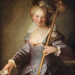 portrait of woman after cleaning