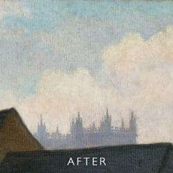 cracked sky after restoration