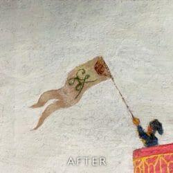 flag after restoration