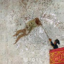 cracked flag before restoration