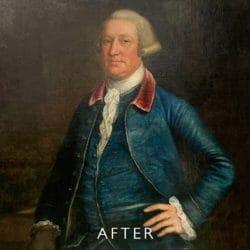 portrait after mould restoration
