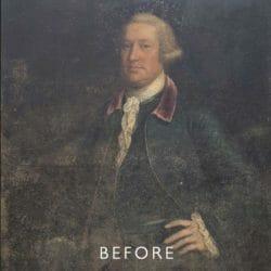 portrait before restoration for mould