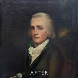 overpainting after restoration