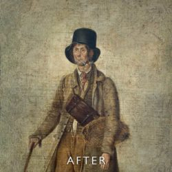 Overpainting removal after restoration