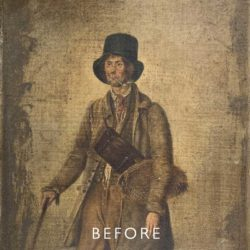 overpaint of man before restoration