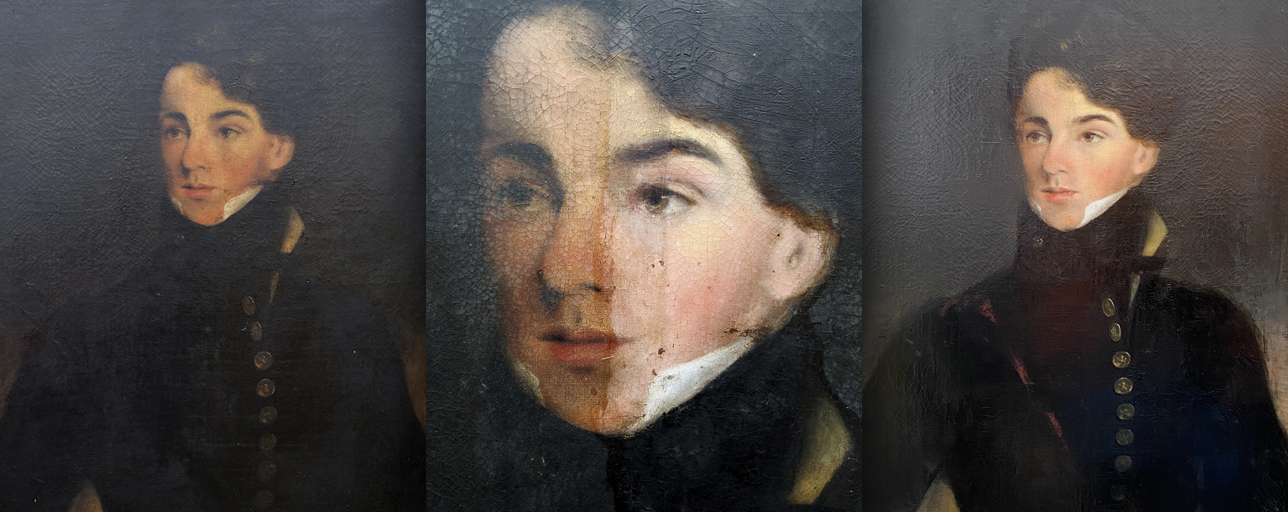 Regency Portrait Restoration Young Man