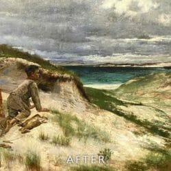 beach scene after tear repair