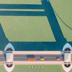 bridge artwork after tear repair