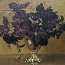 bowl of flowers after restoration