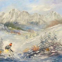 ski scene after restoration