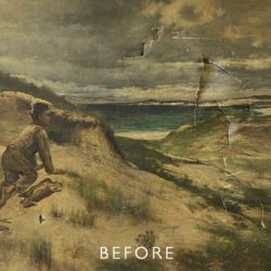 beach scene with tear
