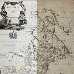 stained map before and after restoration